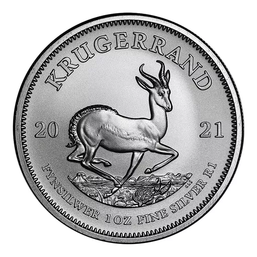 [PR/05399] 2021 1 oz South Africa Krugerrand .999 Silver Coin BU