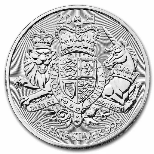 [PR/05401] 2021 Great Britain 1 oz Silver The Royal Arms BU