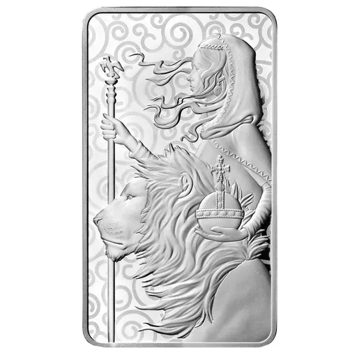 [PR/05402] 2021 10 oz Great Britain The Great Engravers Collection : Una And The Lion .9999 Silver Bar
