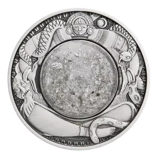 [PR/05409] 2021 TEARS OF THE MOON SILVER ANTIQUED COIN 2oz